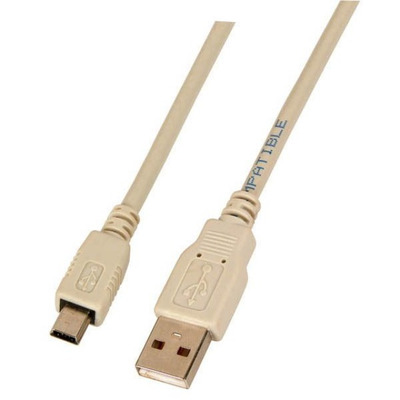 EFB Elektronik USB2.0 Connection Cable A-Mini B (5pol), M-M, 0.5m, grey, Classic USB kabel - Grijs