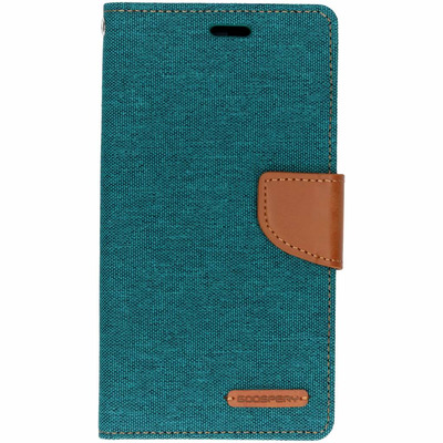 Canvas Diary Booktype iPhone Xr - Groen / Green Mobile phone case