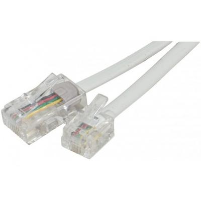 Connect Telephone cord RJ11 to RJ45 White, 2 m Telefoon kabel - Wit