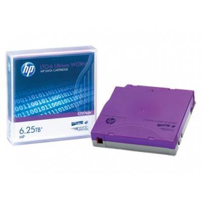Hewlett packard enterprise datatape: HP LTO-6 Ultrium 6.25TB MP WORM Data Cartridge - Paars