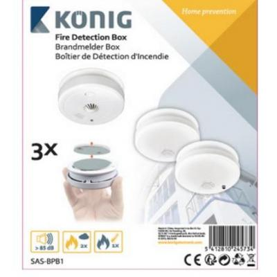 König rookmelder: Fire detection kit - Wit