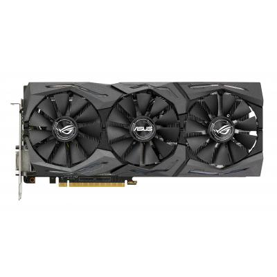 Asus videokaart: GeForce GTX 1070 8GB - Zwart, Grijs