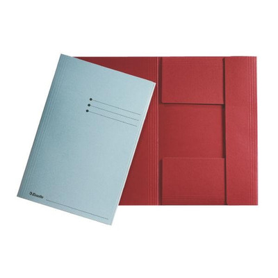Esselte Folder with 3 flaps Folio, Yellow Map - Geel