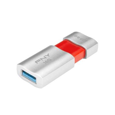 PNY 16GB Wave Attaché USB flash drive - Oranje, Zilver