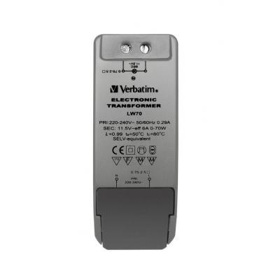 Verbatim voeding transformator: 12V, LED-Compitable, 220 - 240V, 50/60 Hz, Grijs