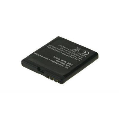 2-power batterij: Mobile Phone Battery, Li-Pol, 3.7V, 500mAh, Black - Zwart
