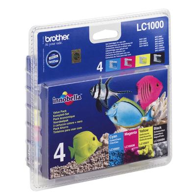 Brother LC-1000 Inktcartridge - Zwart, Cyaan, Magenta, Geel