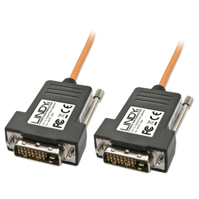 Lindy 40m, Fibre Optic/DVI-D DVI kabel  - Zwart