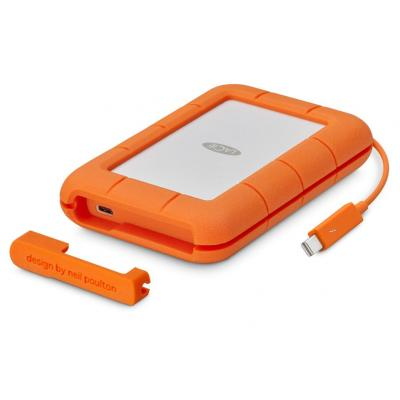 Lacie externe harde schijf: 2 TB, Thunderbolt USB-C, AES 256-bit, Mac/Windows, Orange - Oranje, Wit