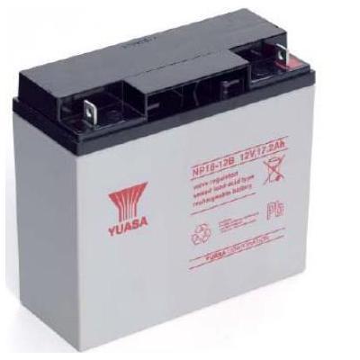 Yuasa UPS batterij: 17.2Ah, 12V, Sealed Lead Acid, 6.1kg, White/Black - Zwart, Wit
