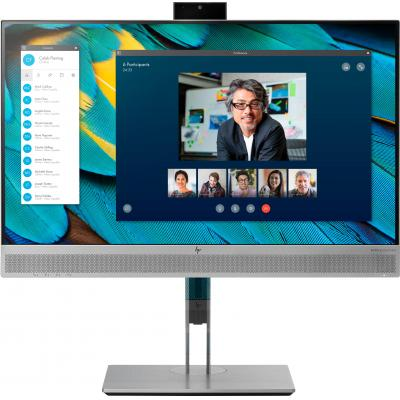 """HP EliteDisplay E243m 23,8"""" Full HD IPS (ingebouwde webcam) Monitor - Zwart, Zilver - Demo model"""