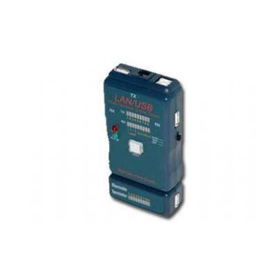 Cablexpert netwerkkabel tester: NCT-2 - Cable tester for UTP, STP, USB cables - Zwart