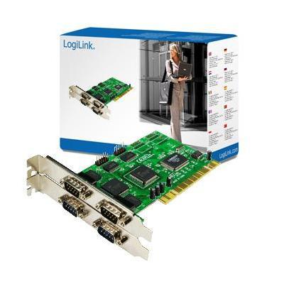 Logilink interfaceadapter: PCI Serial card - Groen