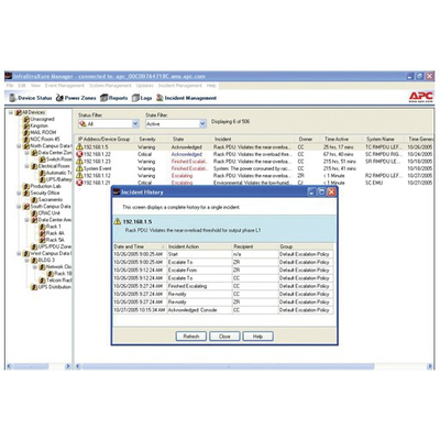 Apc systeembeheer tools: InfraStruXure® Manager Incident Management Module