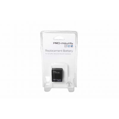 Promounts : Replacement Battery Hero3 and 3+ - Zwart