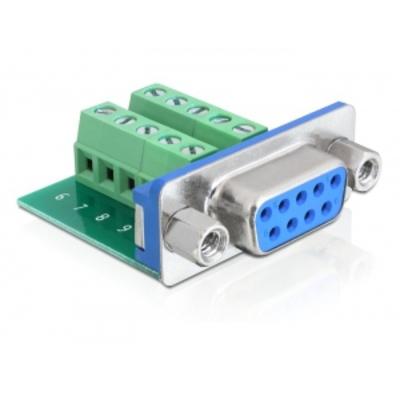 DeLOCK Adapter, Sub-D 9 pin female - Terminal block 10 pin Kabel adapter - Groen