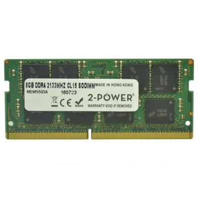 2-power RAM-geheugen: 8GB DDR4 2133MHz CL15 SoDIMM Memory - replaces KVR21S15D8/8