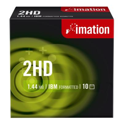 "Imation diskette: 3.5"" DS-HD, 10 Pcs - Zwart"