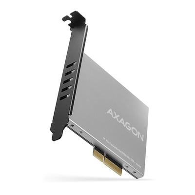 Axagon PCI-Express 3.0/M.2, 8 Gbit/s, 70x100x11mm, 69g Interfaceadapter - Zwart,Zilver