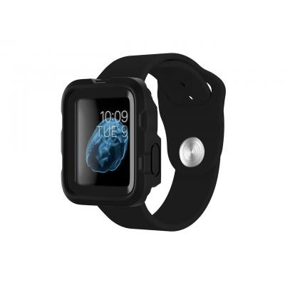 Griffin etui voor mobiele apparatuur: Survivor Apple Watch 38mm Black - Zwart