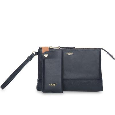 Knomo vrouwen-handtas: Charging Leather Power Purse - Navy