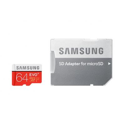 Samsung flashgeheugen: MB-MC64DA - Zwart, Rood, Wit