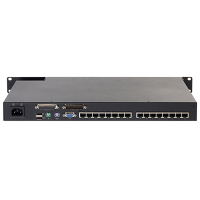 APC KVM0116A, KVM 2G, Analog, 1 Local User, 16 ports, Zwart KVM switch