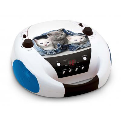 Bigben interactive CD-radio: Portable radio / CD speler met poezendesign - Zwart, Blauw, Wit