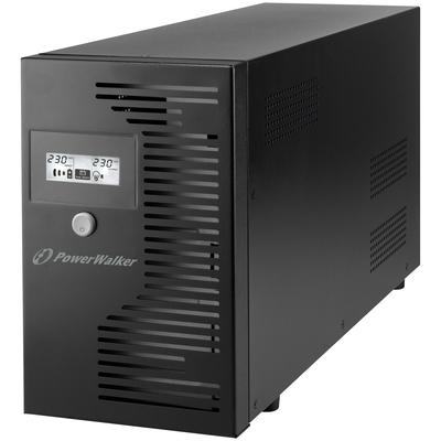 PowerWalker VI 3000 LCD IEC UPS - Zwart