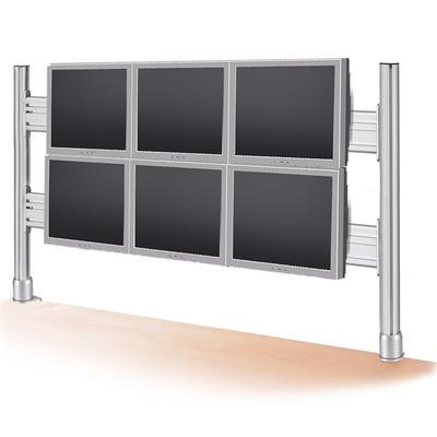 ROLINE LCD Bridge for 2x3 56 cm LCD Monitors, Desk Clamp Monitorarm