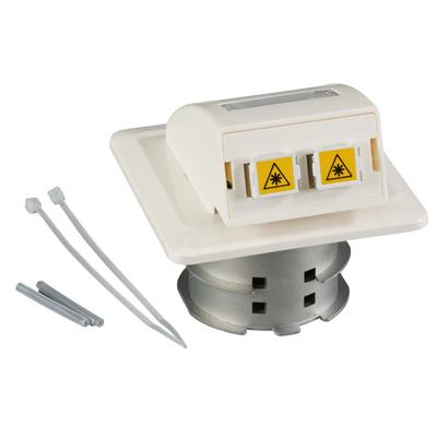 EFB Elektronik FO Datendose UP, 2 SC-S Kupplungen OM4 mit Shutter, integrierter Spleißhalter .....