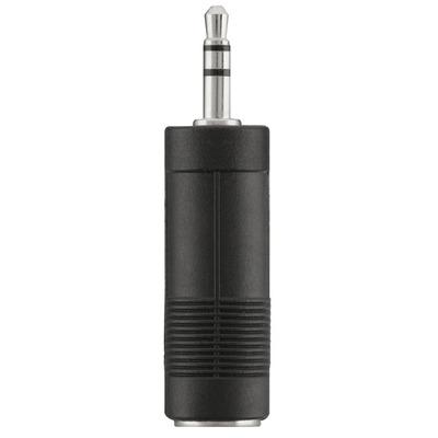 Belkin 3.5mm M - 6.3mm F Kabel adapter - Zwart, Nikkel