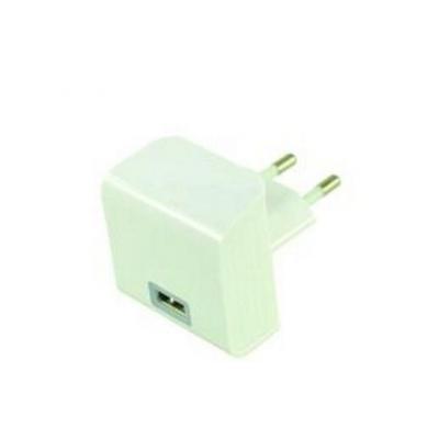 2-power stekker-adapter: USB, 1A, EU Plug AC Adapter, White - Wit