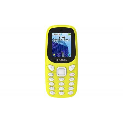 Archos mobiele telefoon: Core 18F - Zwart, Geel, Alphanumeric keypad