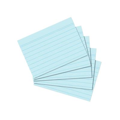 Herlitz index card A7 ruled blue 100 pieces Indexkaart - Blauw