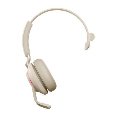 Jabra Evolve2 65, UC Mono, USB-C Headset - Beige