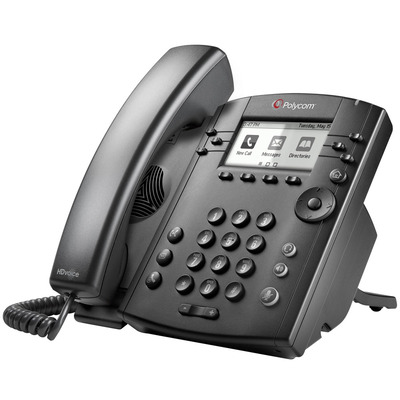 POLY VVX 301 Skype for Business IP telefoon - Zwart