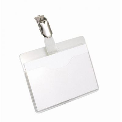 Durable naambadge: Visitor Name Badge - Landscape 60 x 90 mm (1 stuk) - Transparant