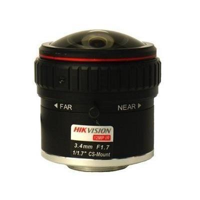 Hikvision Digital Technology HF3417D-12MPIR, fixed-focal, CS mount, F.17, 3.4mm, 48.6x47.03 .....