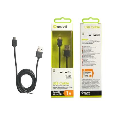 Muvit MUUSC0134 USB kabel - Zwart