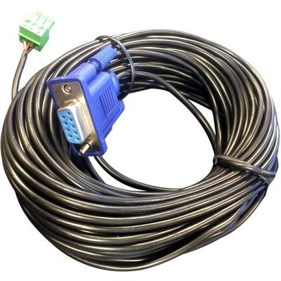 Vivolink RS232 Cable 15M D-Sub 9 F - Phoenix connector Seriele kabel - Zwart