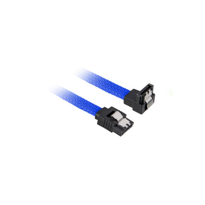 Sharkoon SATA 3 ATA kabel - Zwart, Blauw