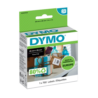 DYMO LW - Multi-Purpose Labels - 25 x 25 mm - S0929120 Etiket - Wit
