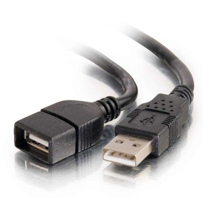 C2G 2M USB 2.0 A VERLENGKABEL - ZWART (6.6FT) USB kabel