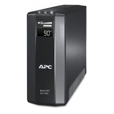 APC Back-PRO 900VA noodstroomvoeding 5x stopcontact, USB UPS - Zwart