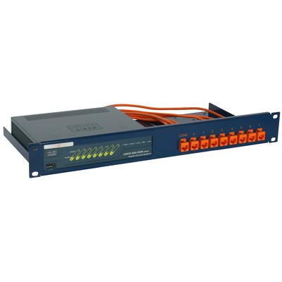 Rackmount.IT 1.3U, 9x RJ45, 9x 0.5m Kabels, RAL 5020 Oceaanblauw Rack toebehoren