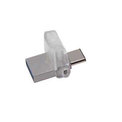 Kingston technology USB flash drive: DataTraveler microDuo 3C 64GB - Zwart