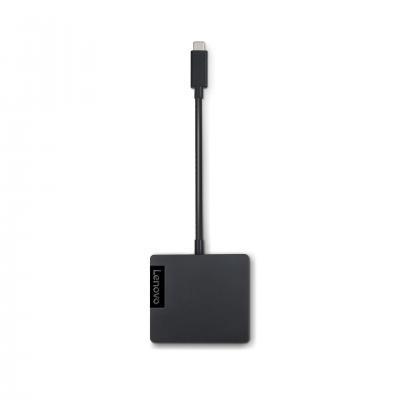 Lenovo hub: USB type C/USB A/RJ-45, Windows 7/8/8.1/10 - Zwart