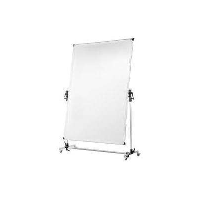 Walimex fotostudioreflector: Rolling Reflector Panel, 150x200 cm - Aluminium, Zwart
