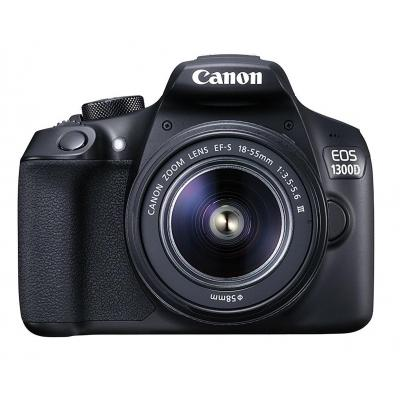 Canon digitale camera: EOS 1300D + EF-S 18-55 DC III - Zwart